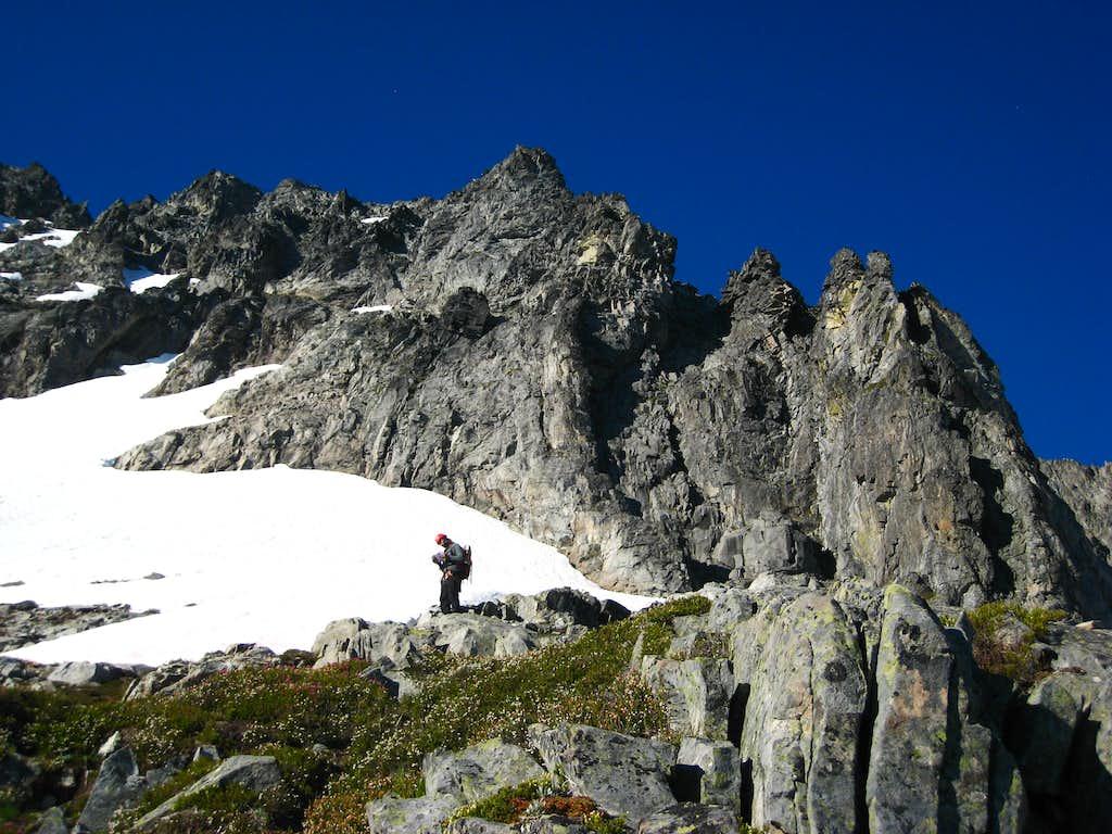 Arriving at the dividing ridge