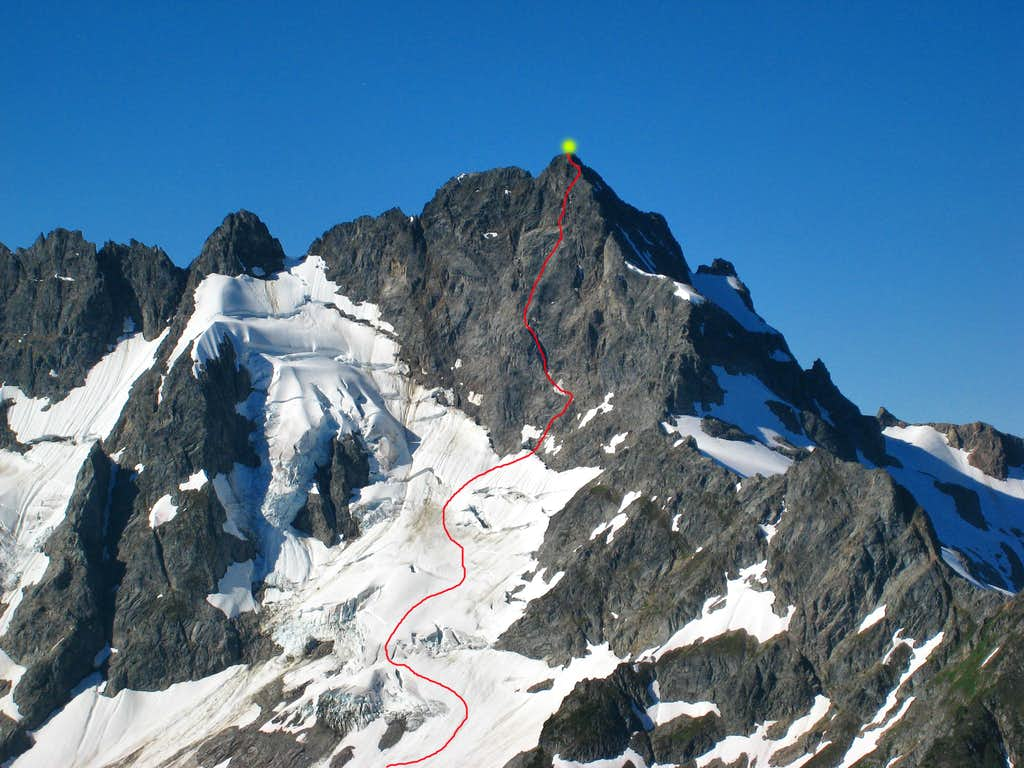Our route up Mount Formidable