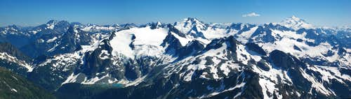 Mount Formidable summit panorama