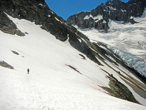 Descending Down to Middle Cascade Glacier