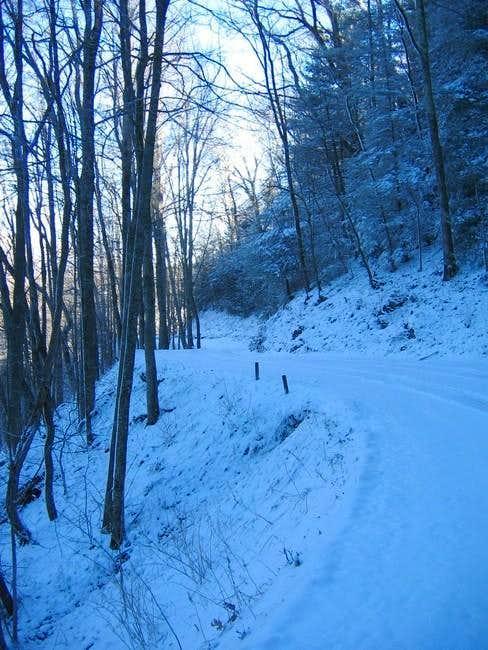 The Cove Creek Road in...