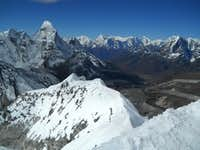 View of Ama Dablam from the summit of Island Peak