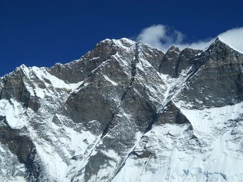 View of Lhotse from the summit of Island Peak
