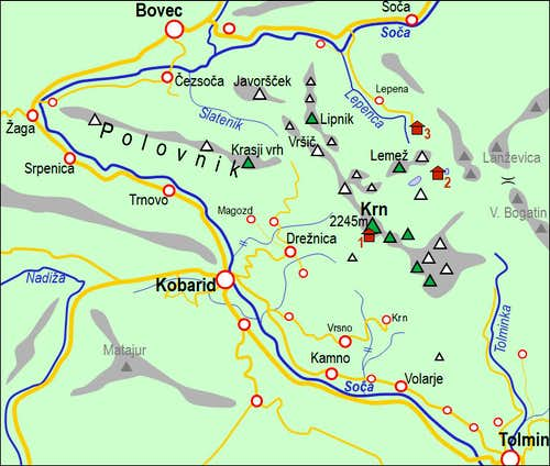 A self-made map of Krn Group....
