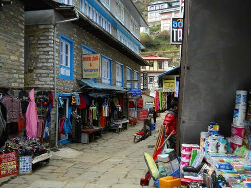 Streets of Namche Bazzar