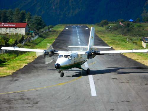 Landing in Lukla