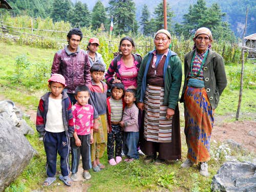 Family from the small village of Phadingom