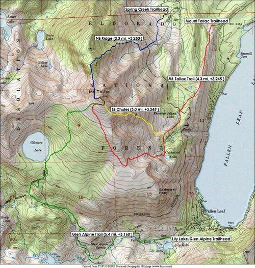 Annotated Topo Map showing...