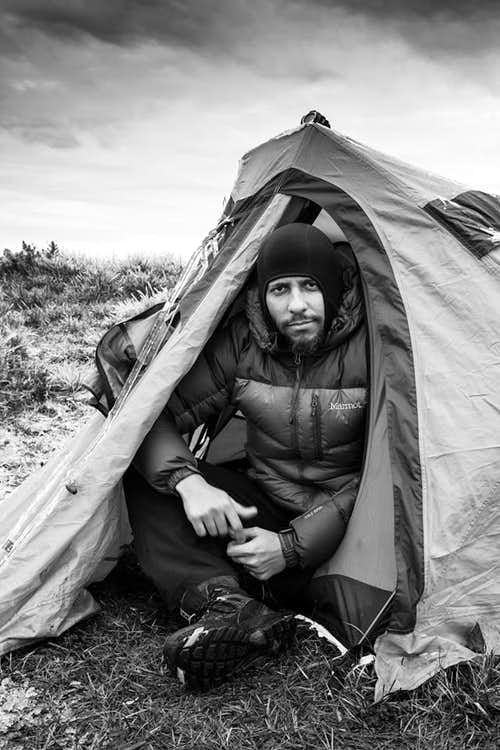 Morro das Torres summit camp, under freezing temperatures.