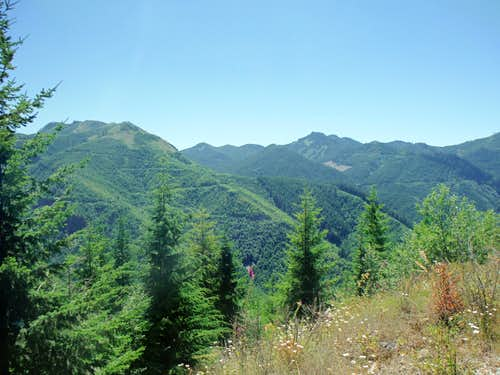 View from the summit area