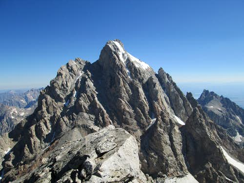 The Grand Teton seen from the summit of the Middle Teton, July 21, 2013