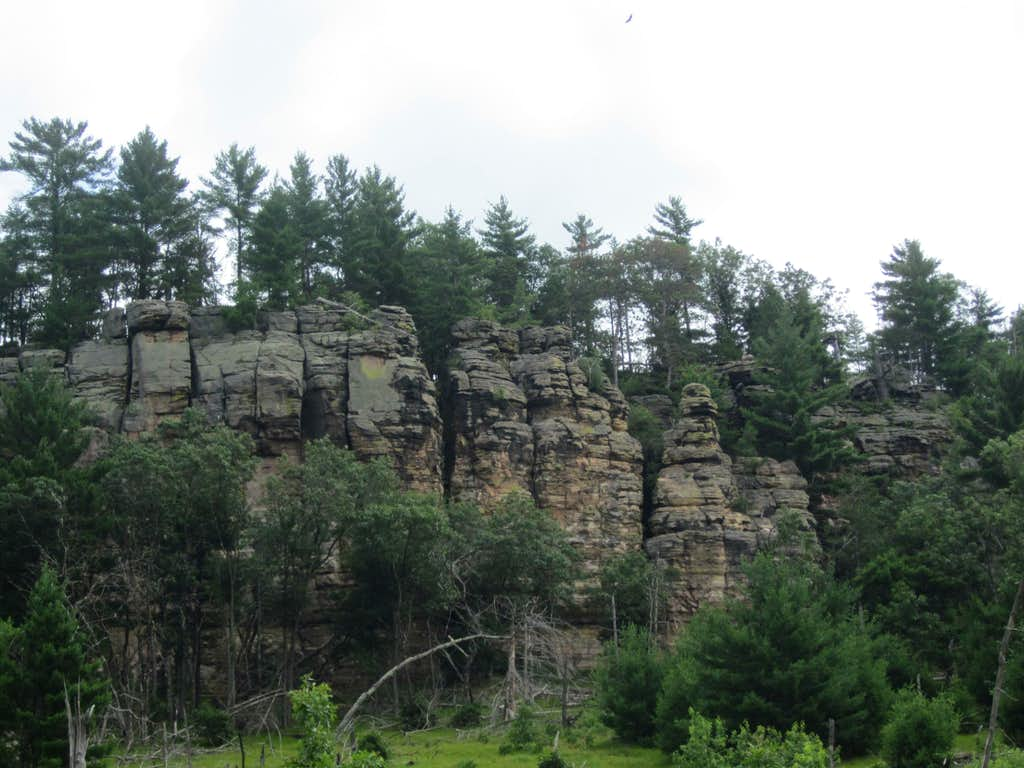 Lone Rock - With Turkey Vulture