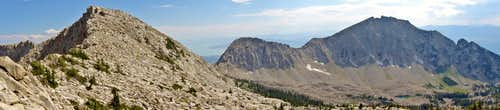 Lone Peak (R) and South Thunder (L) as seen from the Thunder Ridge