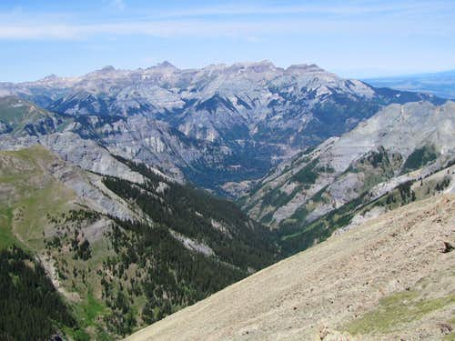 Bear Creek Canyon & Mt. Sneffels