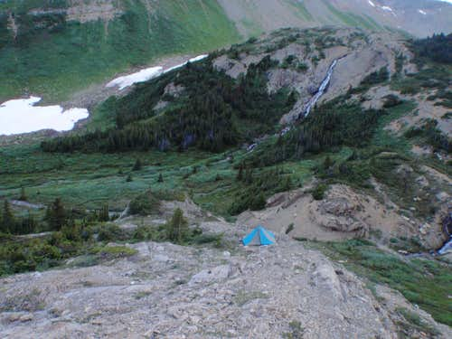 Bivy near north col of Coronet