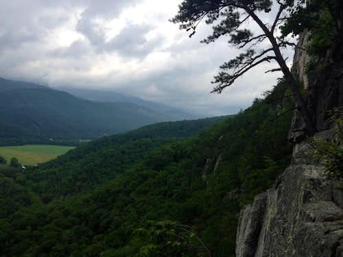 The view from the second belay ledge