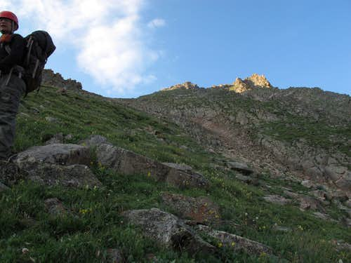 Peak T from Upper Slate Lake Gore Range