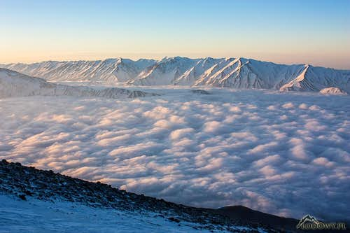 Far above the clouds in Iran