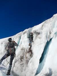 Climbing on Wintun Glacier