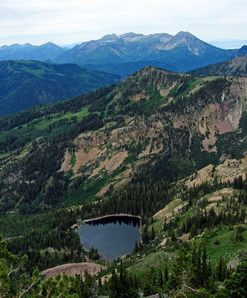 Mount Timpanogos over Pittsburg Lake