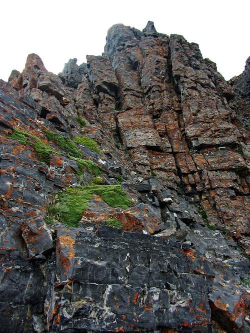 Devils Castle steep west summit