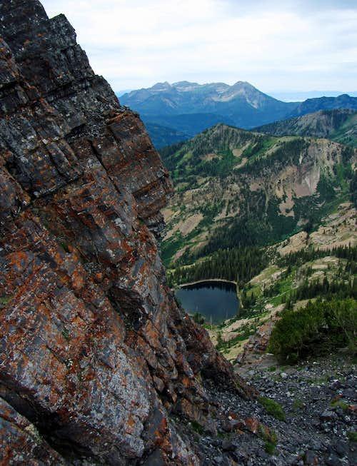 View north below Devils Castle west summit