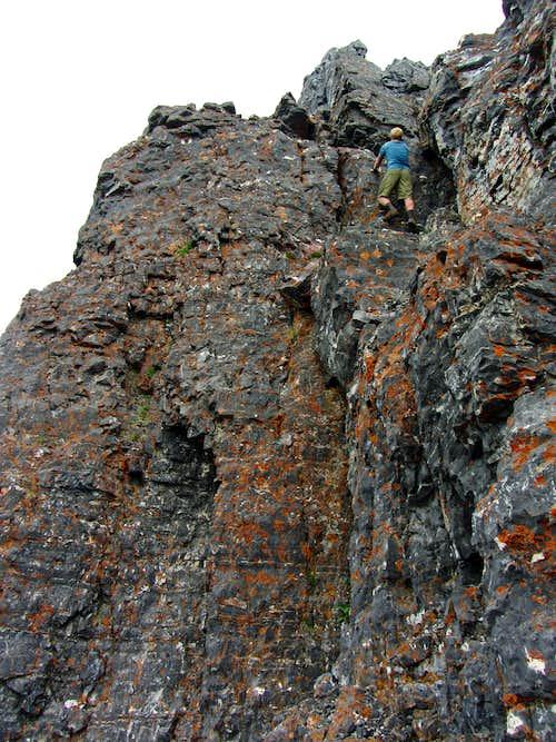 West summit climb