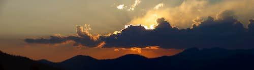 Klamath Mtn sunset