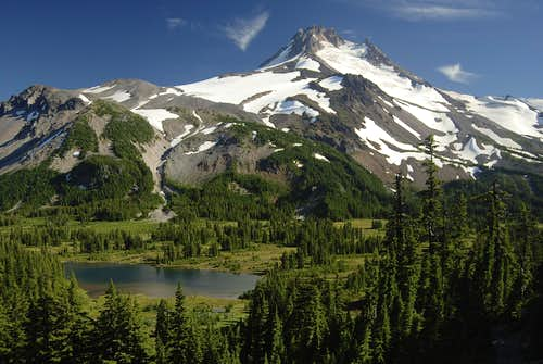 Mt. Jefferson with Russell Lake