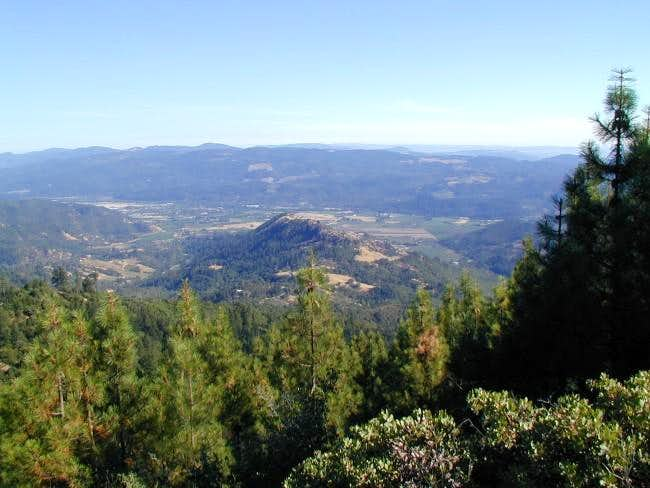 view of Napa valley, 1/2 up