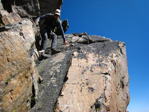 Descending the slab from Granite West