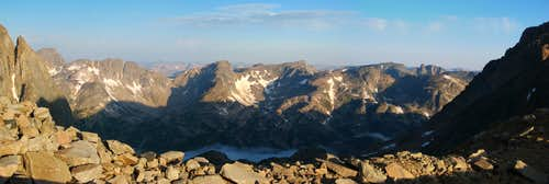 Western Beartooth sunrise panorama