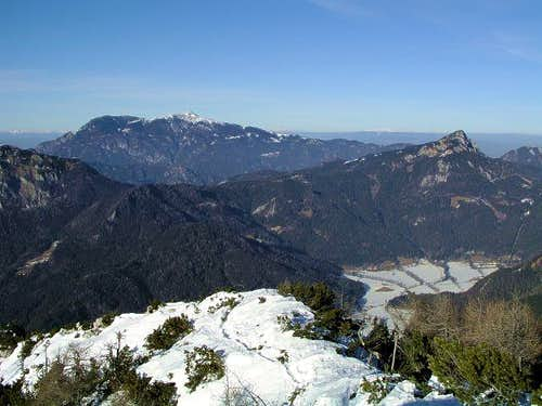 The view from the summit of...