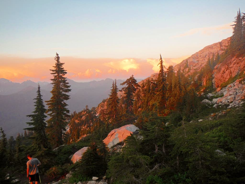 Evening light at the base of Mount Pilchuck