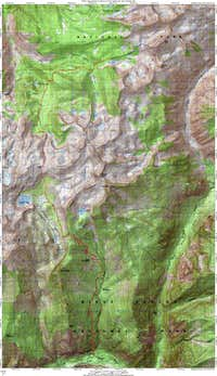 Route Map for State Peak