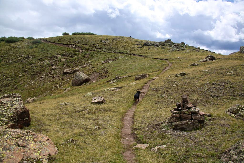 Section of Continental Divide Trail