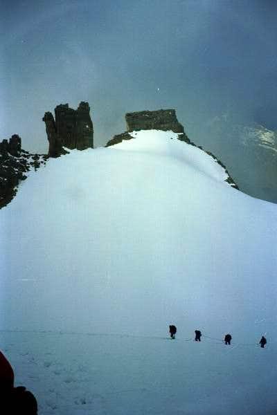 The summit of Gran Paradiso...