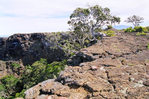 large pit crater summit area  before 2002
