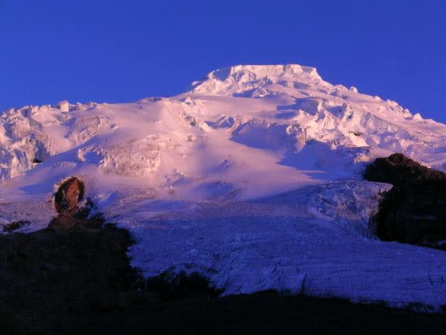 Alpenglow on the upper...
