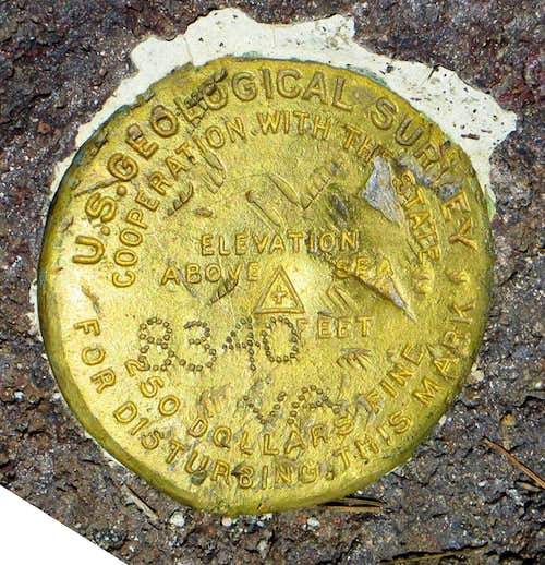 Prospect Peak Survey Marker