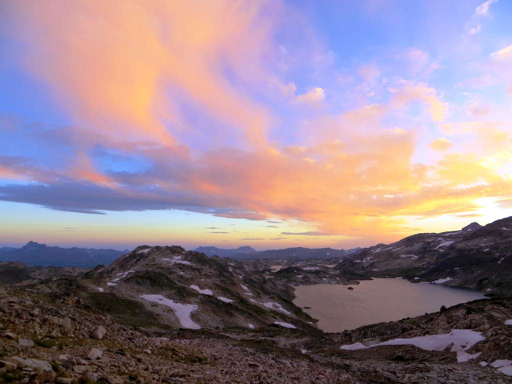 Upper Aero Lake at Sunset