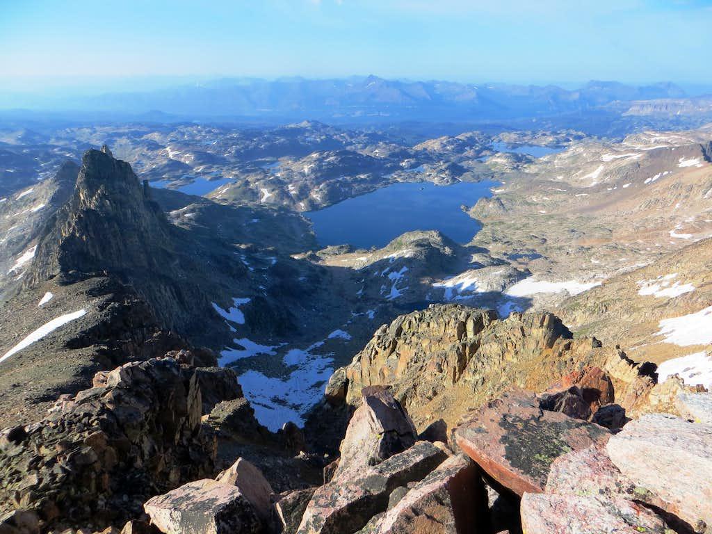 Aero Lakes from Mt. Villard's summit