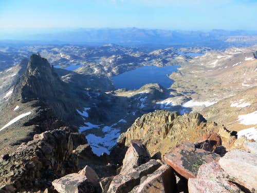 Aero Lakes from Mt. Villard's summit