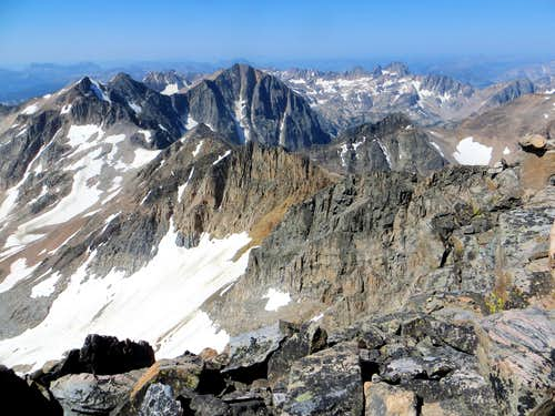 View back to Villard and Glacier from West Granite's summit