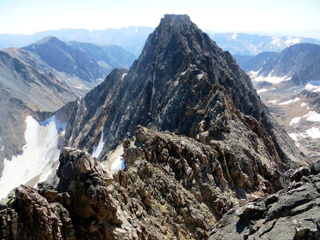 The traverse over to Granite Peak from West Granite