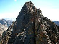 Granite Peak and the ascent chimney