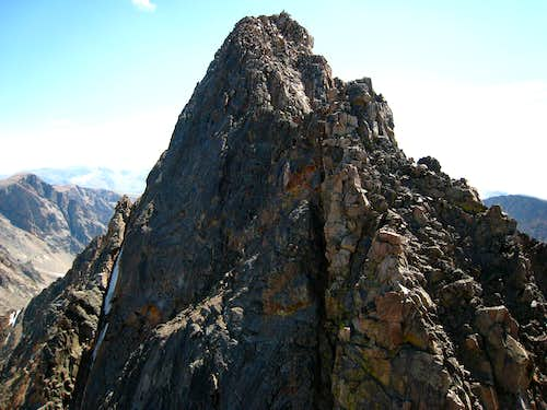 Granite Peak and the ascent chimney