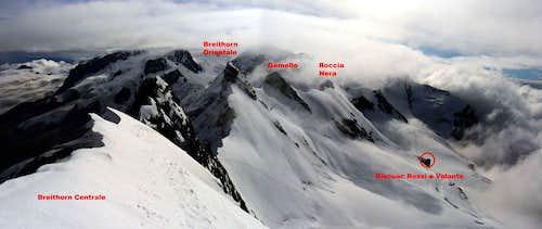 The Breithorn chain