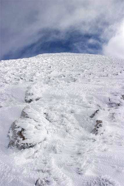 Looking up toward the summit...