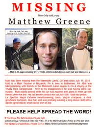 Missing Person Matthew Greene